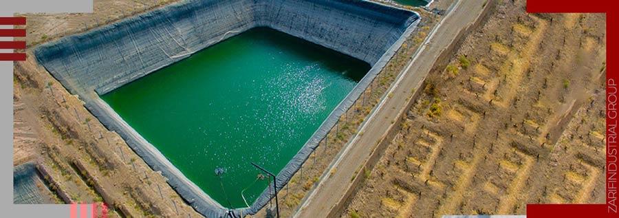 کاربرد ورق ژئوتکستایل در احداث استخر ذخیره آب کشاورزی