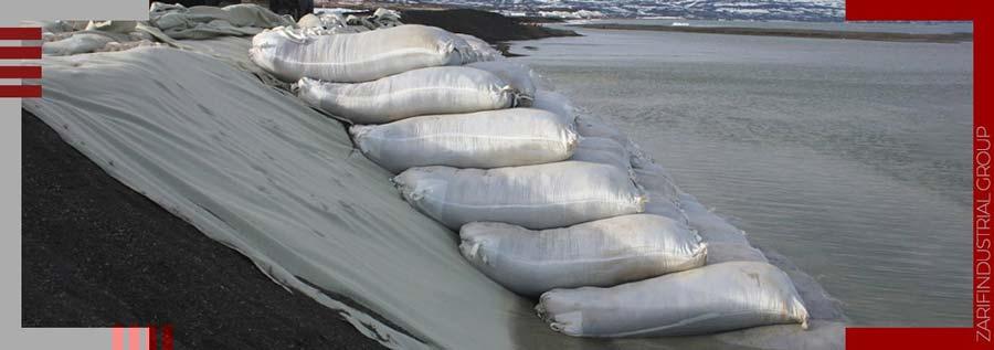 کاربرد ژئوتکستایل در جلوگیری از فرسایش خاکهای ساحلی و موج شکنها